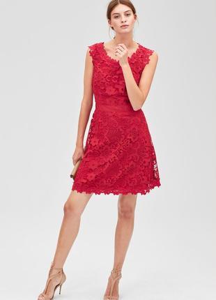 Красное платье миди s oliver полиэстер новое с бирками