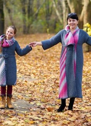 Пальто family look для мамы и дочки