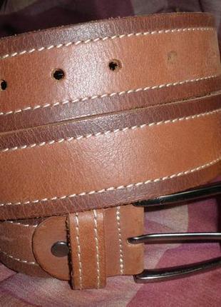 Красивый мягкий кожаный ремень на каждый день 95см италия качество укоротим под ваш размер