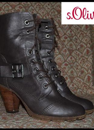 Брендові чоботи жіночі s. oliver 38 [німеччина] 25 см (сапоги женские утепленные)