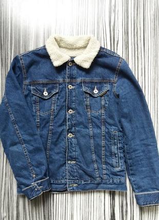 Шерпа джинсовая курточка с мехом