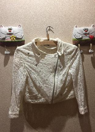 Короткий ажурный пиджак #11