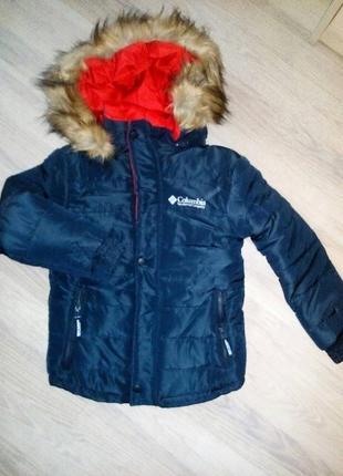 Куртка зимняя columbia 7-9лет