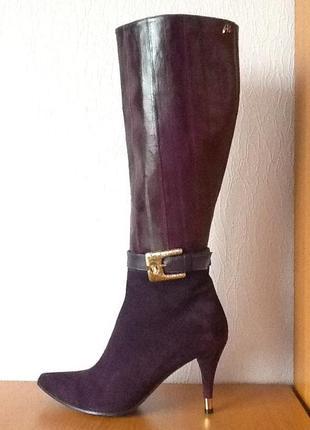0ed551726 Необыкновенные пурпурные сапоги 36 roberto botticelli клас baldinini италия  натур кожа