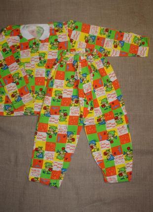 Нова тепла на 4 рост 105 и 32(64) р новая теплая пижама байковая