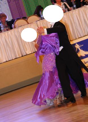 Платье для бальных латино-американских танцев для стандартной программы