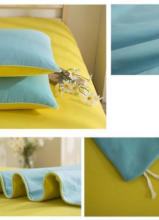 Бирюзовое, красивое постельное белье семейное (набор, комплект)2