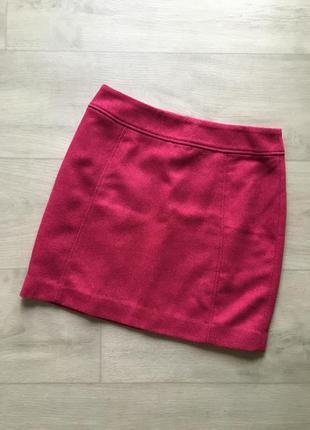 Тепленкая шерстяная юбочка трапеция