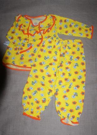 Нова байка на 3-4 года мальвина мальвинка теплая пижама мальвіна