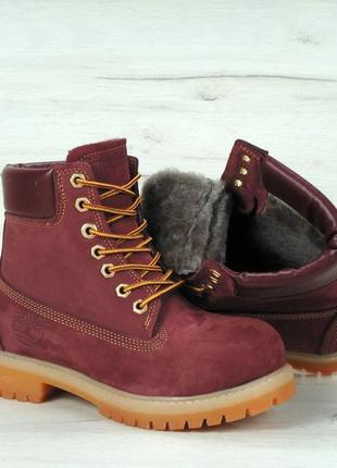 Шикарные женские зимние ботинки timberland с мехом