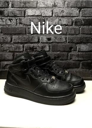 Кожаные кроссовки nike air force 1 mid (gs) оригинал