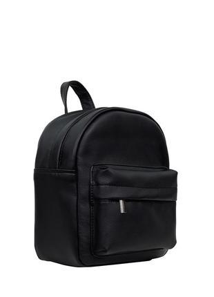Удобный женский рюкзак чёрный для прогулок, учебы, путешествий