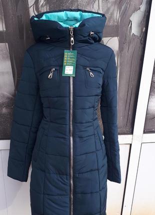 Женская приталенная зимняя курточка