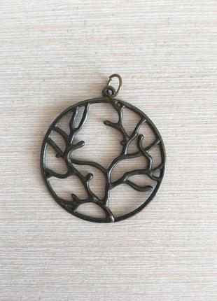 Кулон металлический дерево