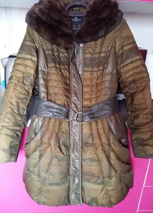 Женский пуховик,зимняя куртка ,{турция} р.38 скидка😍