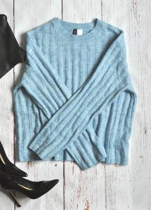 Небесно-голубой свитер оверсайз h&m