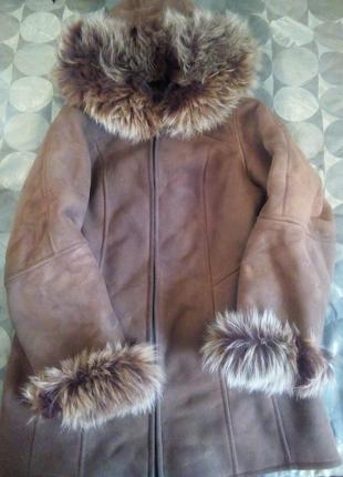 Дубленка натуральная, шуба зимня, куртка для девочки