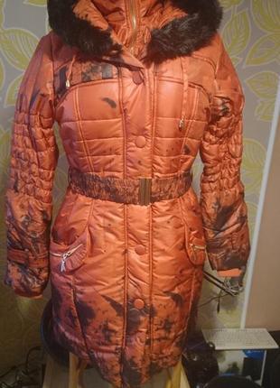 Распродажа!зимняя куртка ,плащ,брендовая ,с биркой