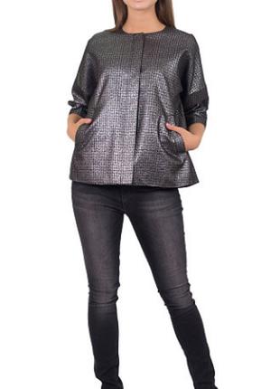 Нарядный серебристый пиджак