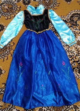Новогодний костюм платье анна р. l примерно на рост 122-134
