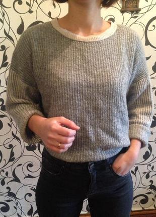 Объемный свитер,свитер женский ,