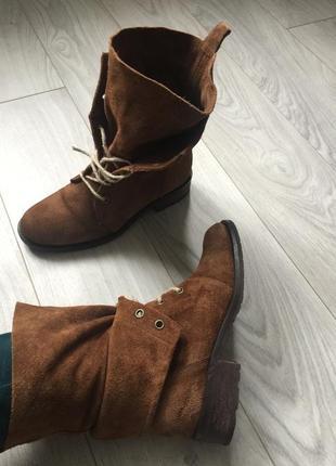 Шикарные ботинки из натуральной замши