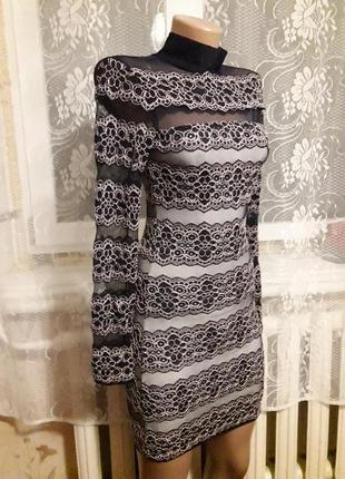 Платье в сеточку, размер хс-с