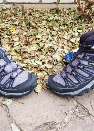 Женские зимние ботинки на шипах salomon x ultra mid 2 w spikes gtx