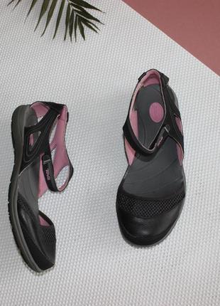 36 23см teva спортивные босоножки с закрытым носочком, на липучке балетки