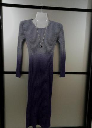 Теплое платье миди