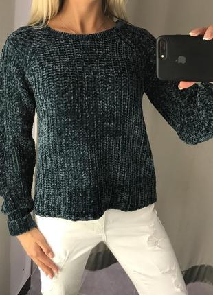 Красивый вязаный свитер мягенький тёплый свитерок. amisu. размеры уточняйте.