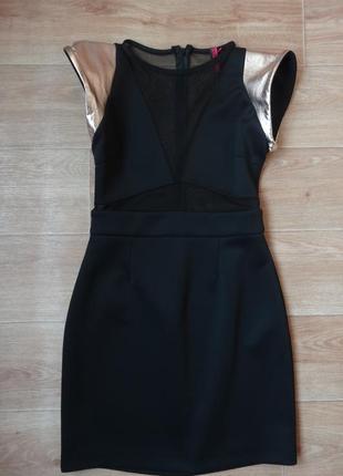Снизила цену нарядное черное платье от boohoo