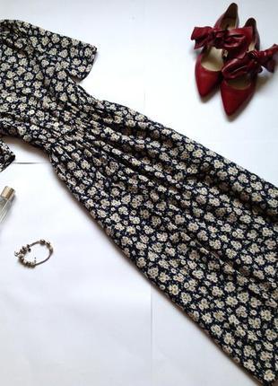Платье рубашка миди в стиле винтаж marks & spencer