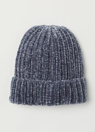 Плюшевая бархатная мягусенькая шапка бинни h&m
