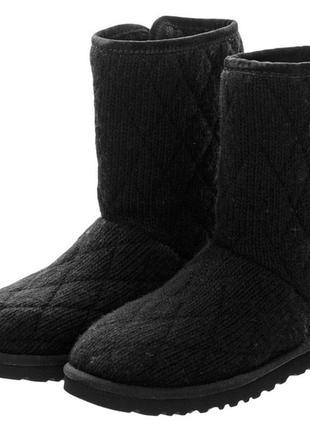 Женские вязанные угги ugg mountain quilted knit boot оригинал