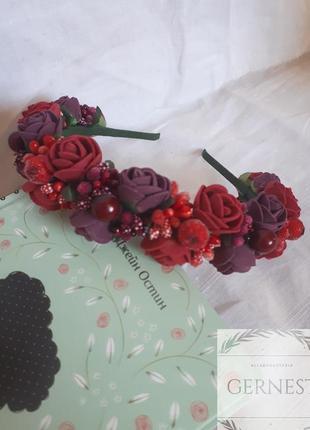 Обруч-венок с цветами