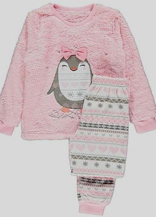 Теплая плюшевая пижама george домашний костюм есть все размеры