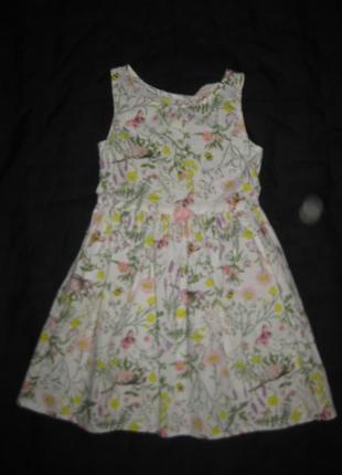 4-5 лет, нежное летнее платье сарафан, бабочки, цветы!1