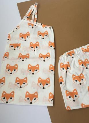 Пижама на брительках, піжама, ручна робота, 100% хлопок.
