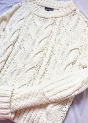 Шикарный свитер крупной вязки