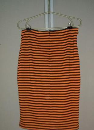 Облегающая юбка карандаш из костюмного трикотажа2 фото