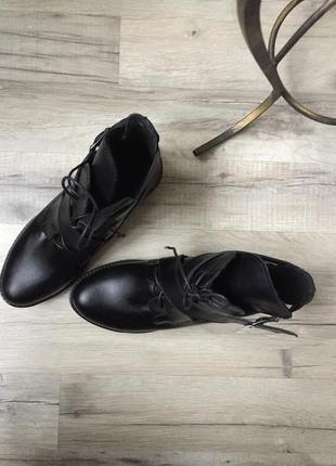 Ботинки натуральная кожа на шнурках с ремнями3