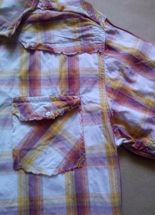 Рубашка на кнопках, на рост  140-146