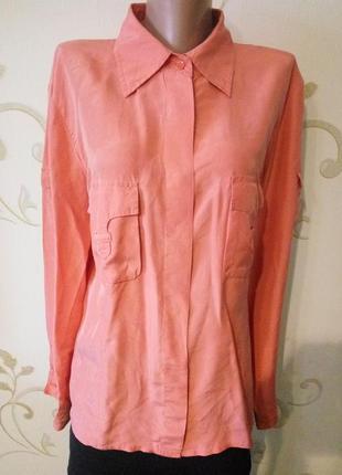 Распродажа ! marc aurel . 100% шелк . шикарная блузка рубашка кофточка . большой размер