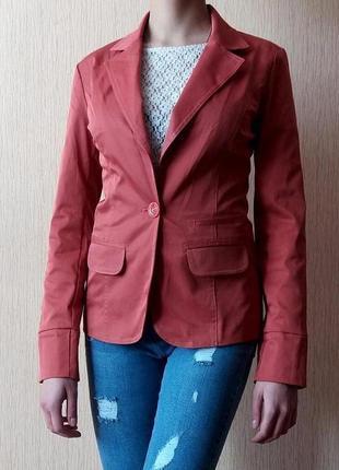 Тотальная распродажа!! красивенький терракотовый пиджак