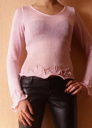 Рампродажа!!! милый свитер нежного цвета