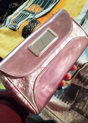 Розовая сумочка/сумка/ клатч
