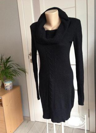 Теплющее платье миди зима с хомутом/15 % шерсти хс