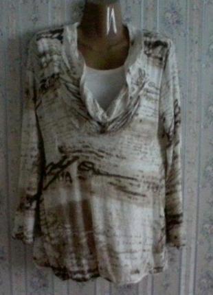 Шерстяной свитер-туника,  разм. 48-50