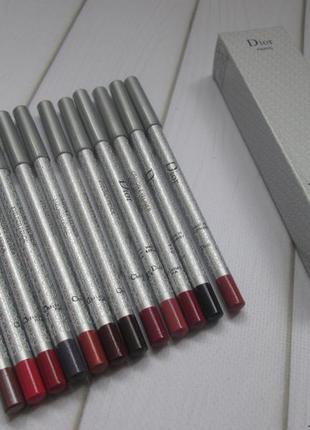 Набор карандашей для глаз и губ ( 10 матовых + 2 с шиммером)